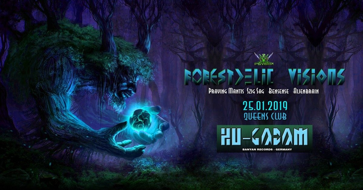 Party Flyer Psybox - Forestdelic Visions with Hu-Gadam 25 Jan '19, 22:00
