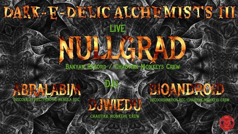 Party Flyer Dark-e-Delic Alchemists III 26 Jan '19, 22:00