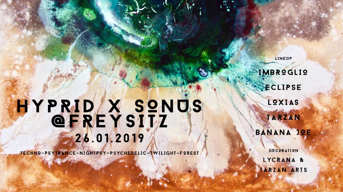 Party Flyer Hyprid x Sonus @Freysitz 26 Jan '19, 20:00