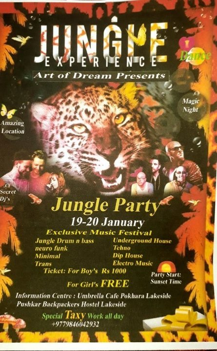 Party Flyer Jungle Experience Art Of Dreams Presents 26 Jan '19, 22:00