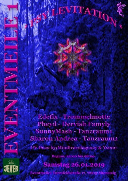 Party Flyer **PSY-Levitation** 26 Jan '19, 22:00