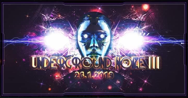 Party Flyer Underground Noize III // TEZLA « Low-Budget-Edition » 26 Jan '19, 23:00