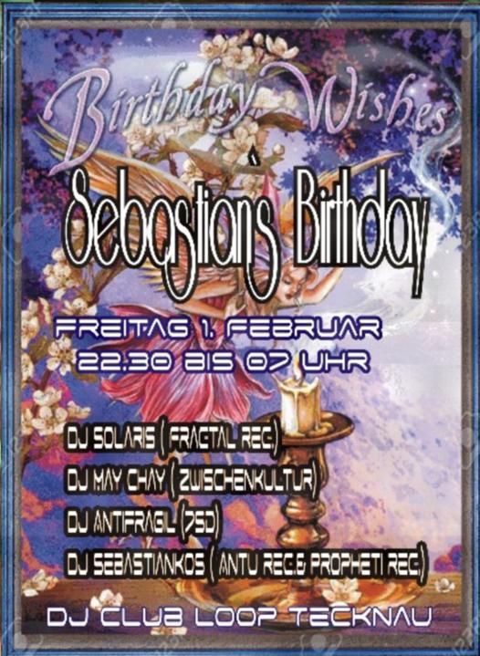 Party Flyer Dj SebastianKos & Friends Birthday Wishes 1 Feb '19, 22:30
