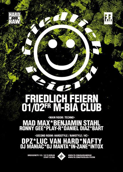 Party Flyer Friedlich Feiern 1 Feb '19, 23:30