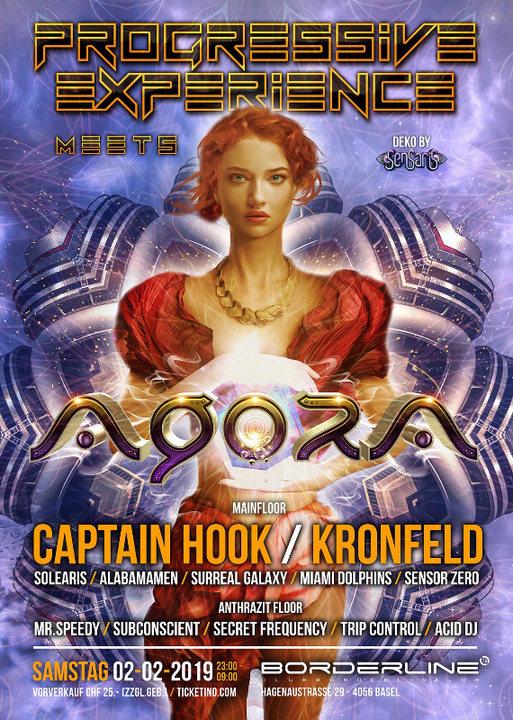 Progressive Experience meets Agora with Captain Hook & Kronfeld 2 Feb '19, 23:00
