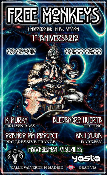Party Flyer 1º Aniversario #UndergroundMusicSession 8 Feb '19, 23:30