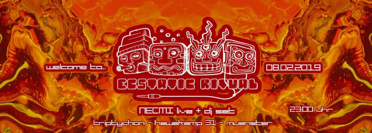 Party Flyer Ecstatic Ritual - Necmi live 8 Feb '19, 23:00