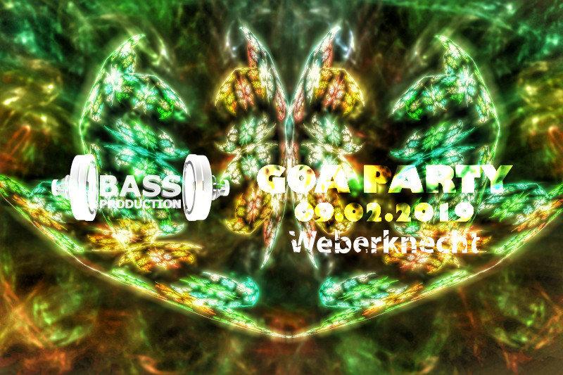 Party Flyer Bassproduction Goa Party 9 Feb '19, 22:00