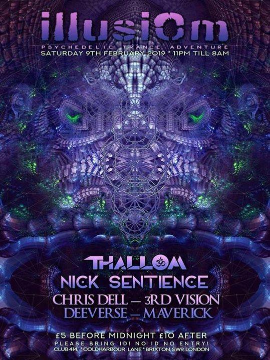 Party Flyer Illusiom PsyTrance Adventure 9 Feb '19, 23:00