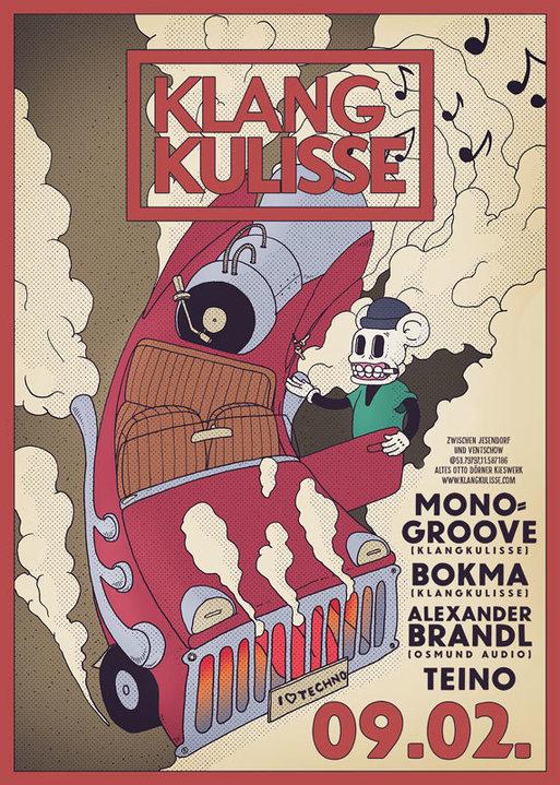 Party Flyer Klangkulisse SoundDakar 9 Feb '19, 22:00