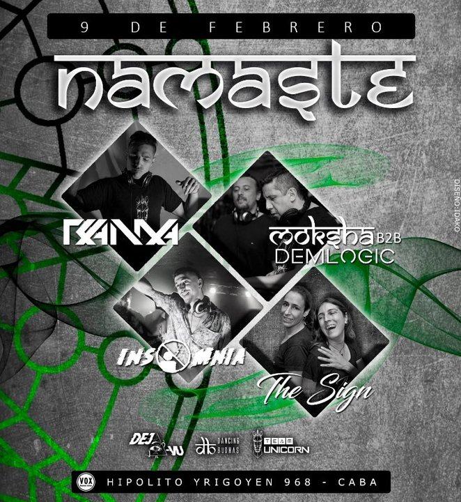 Party Flyer Namaste 9 Feb '19, 23:30