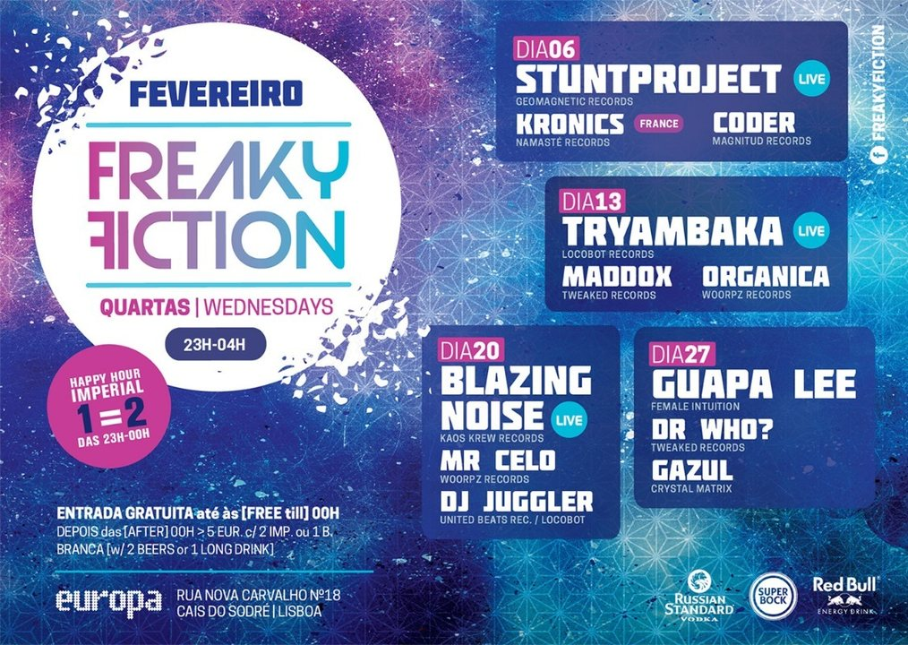 Party Flyer FREAKY FICTION 13 Feb '19, 23:00