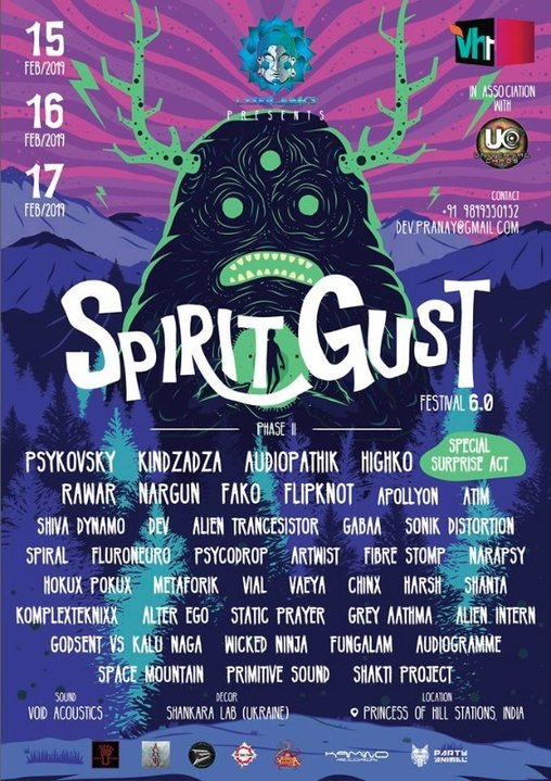 Party Flyer Spirit Gust Festival 6.0 15 Feb '19, 14:00