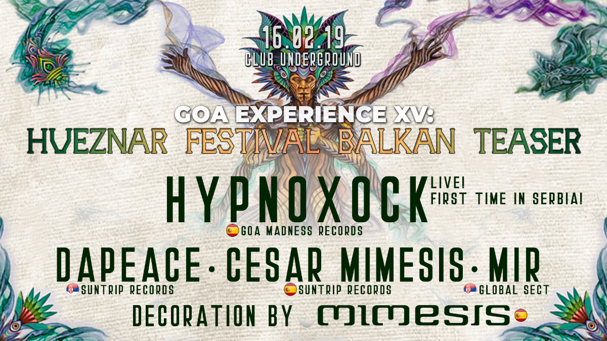 Party Flyer GOA EXPERIENCE XV 16 Feb '19, 23:00