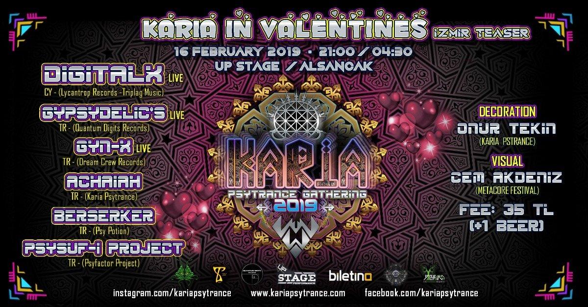 Party Flyer Karia Gathering in Valentines - İzmir Teaser 16 Feb '19, 20:00