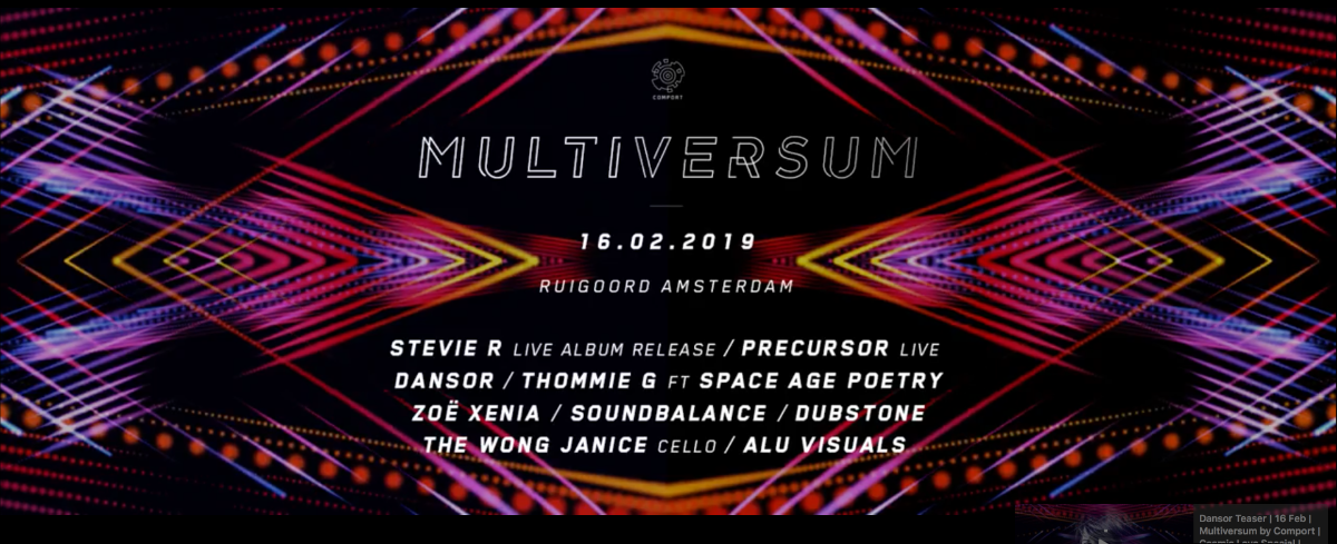 Party Flyer Multiversum by Comport - Cosmic Love 16 Feb '19, 22:00