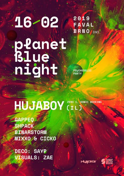 Party Flyer Planet Blue Night w/ Hujaboy 16 Feb '19, 21:00