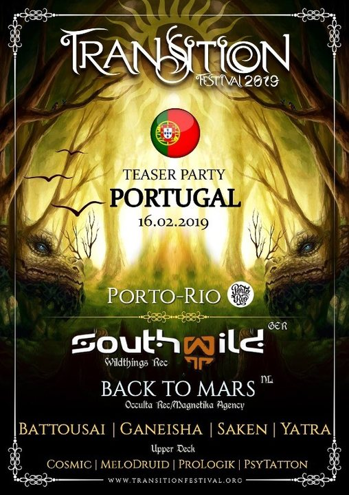 Party Flyer Transition Festival Teaser Party - Porto - Portugal 16 Feb '19, 23:30
