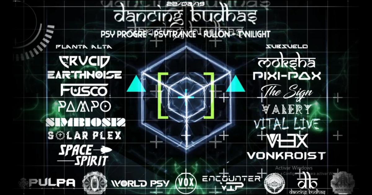 Party Flyer Dancing Budhas 22 Feb '19, 23:30