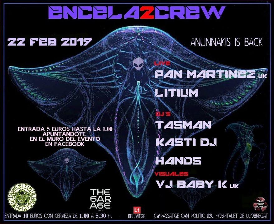 Party Flyer ENCELA2CREW PRESENTS: ANUNNAKIS IS BACK 22 Feb '19, 23:30