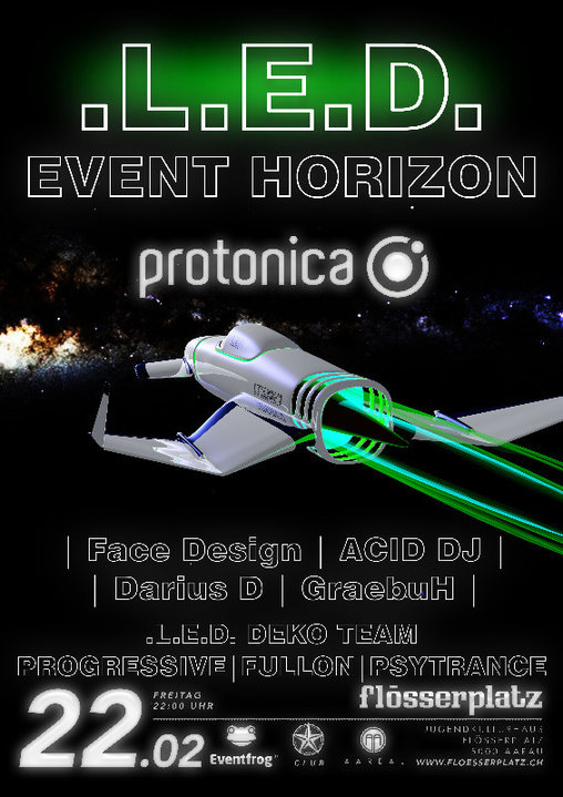 Party Flyer LED - Event Horizon 22 Feb '19, 22:00