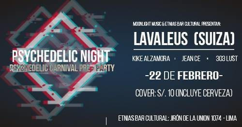 Party Flyer Psychedelic Night - psychedelic carnival pre party 22 Feb '19, 22:00