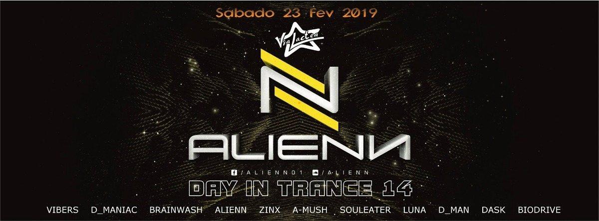 Party Flyer Alienn Day in Trance 14 23 Feb '19, 23:30