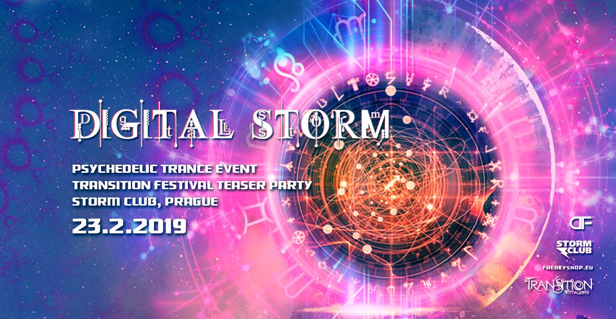 Party Flyer Digital Storm with Vertical & Djantrix 23 Feb '19, 21:00