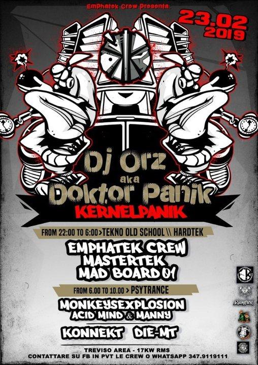 Party Flyer ORZ KERNEL PANIK / TREVISO AREA 23 Feb '19, 22:00