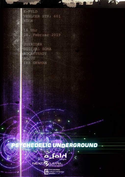 Party Flyer Psychedelic Underground 28 Feb '19, 16:00