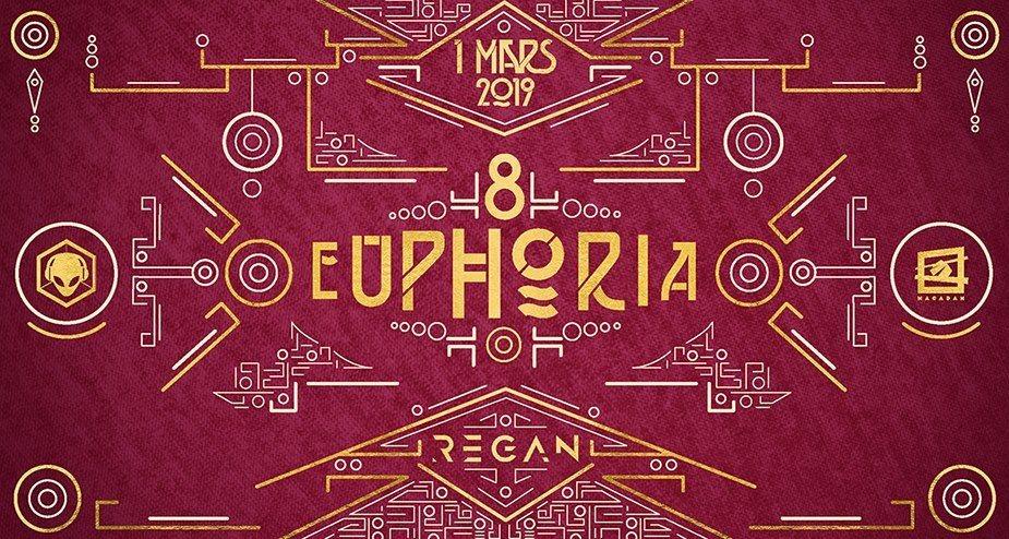 Party Flyer Euphoria #8 w/ Regan (Nano Records) 1 Mar '19, 23:30