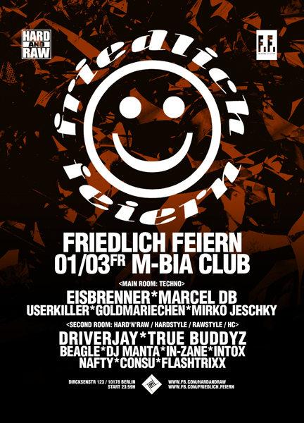Party Flyer Friedlich Feiern 1 Mar '19, 23:30
