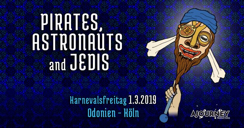 "Party Flyer Pirates, Astronauts & Jedis (Karnevalsfreitag) w/ Kularis ""live"" 1 Mar '19, 23:00"