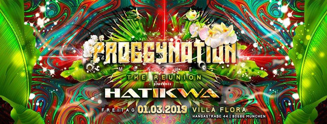 Party Flyer Proggynation München w. Hatikwa | the Reunion 1 Mar '19, 22:00