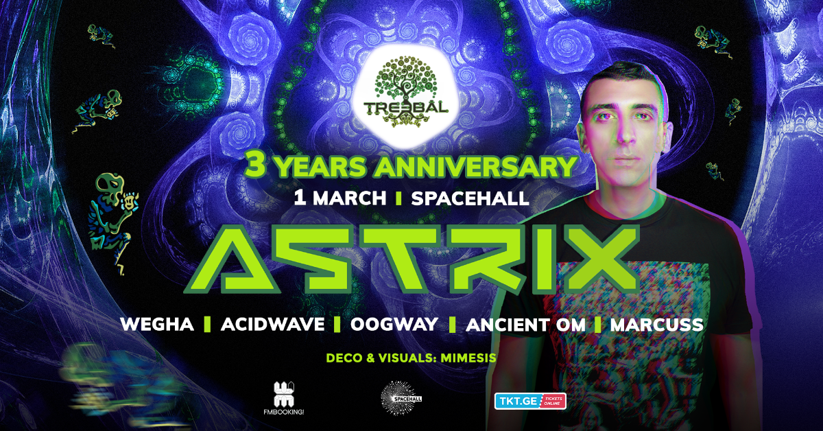 Party Flyer TREEBAL BIRTHDAY with ASTRIX 1 Mar '19, 23:00