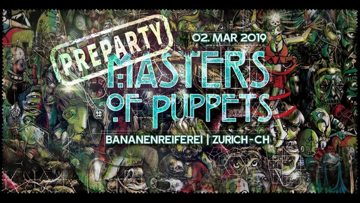 Party Flyer Masters Of Puppets PreParty - Switzerland 2 Mar '19, 22:00