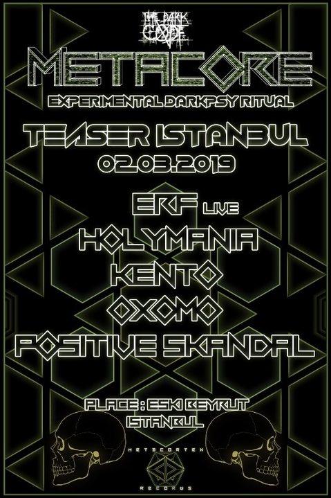 Party Flyer METACORE Festival TEASER Istanbul 2 Mar '19, 21:00