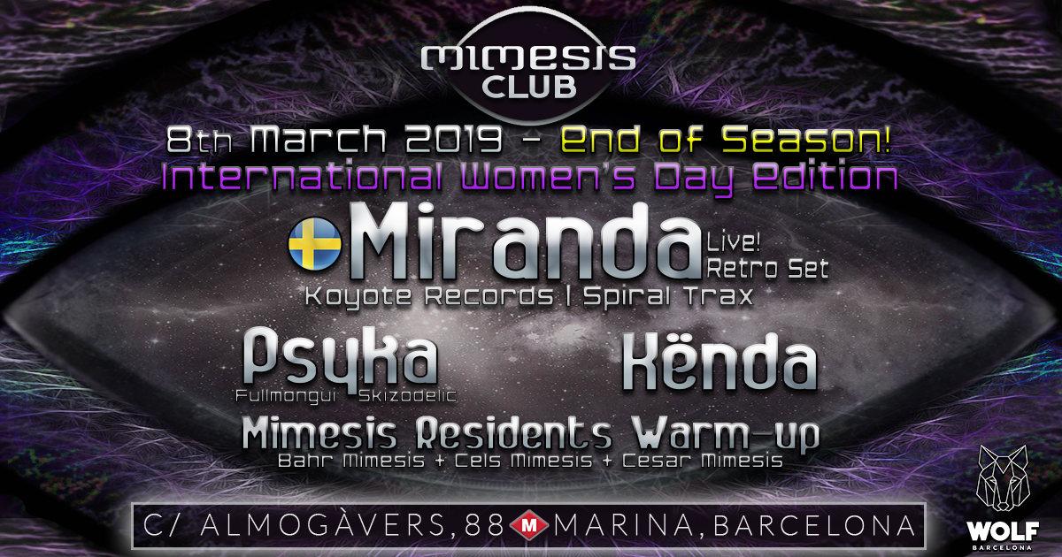 Party Flyer Mimesis CLUB 8 Mar '19, 23:30