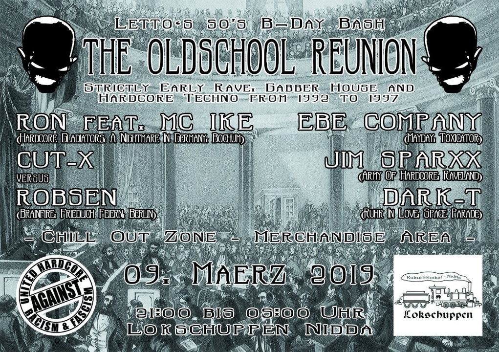Party Flyer The Oldschool Reunion   Letto's 50th B-Day Bash 9 Mar '19, 21:00