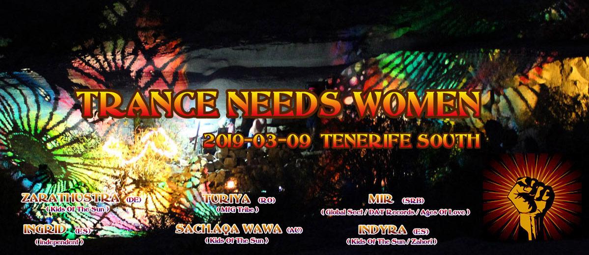 Party Flyer Trance Needs Women 2019 9 Mar '19, 18:00