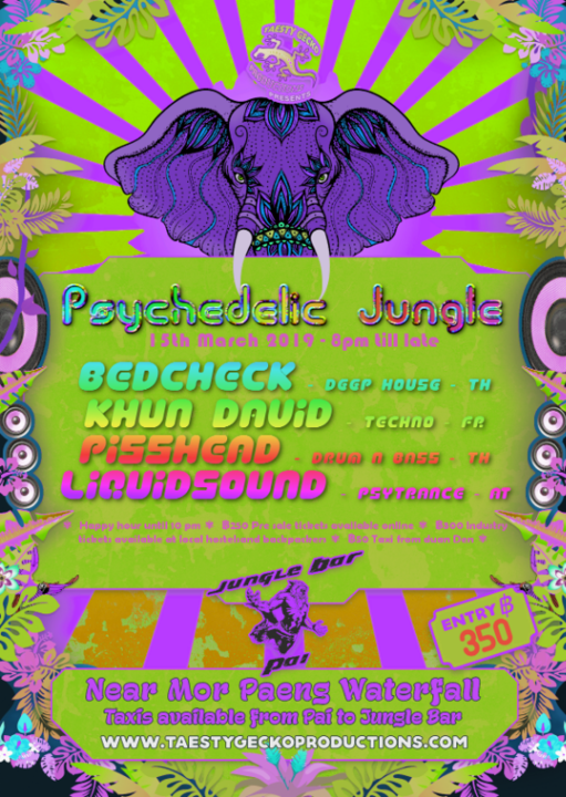 Party Flyer Psychedelic Jungle 15 Mar '19, 19:00