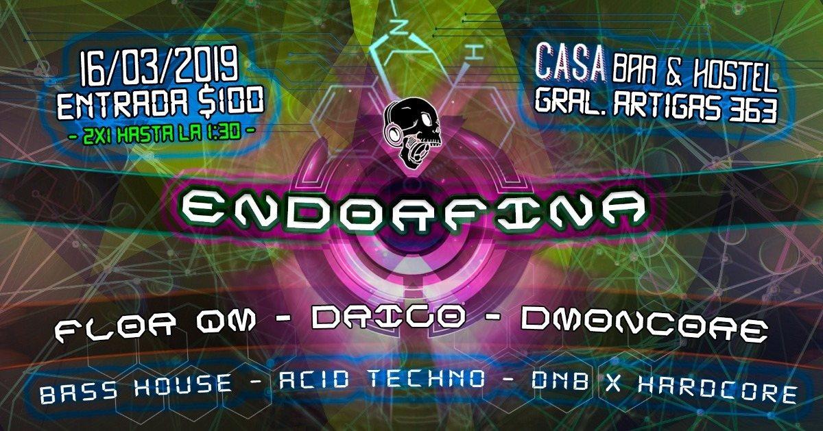 Party Flyer Endorfina vol.3 16 Mar '19, 23:00