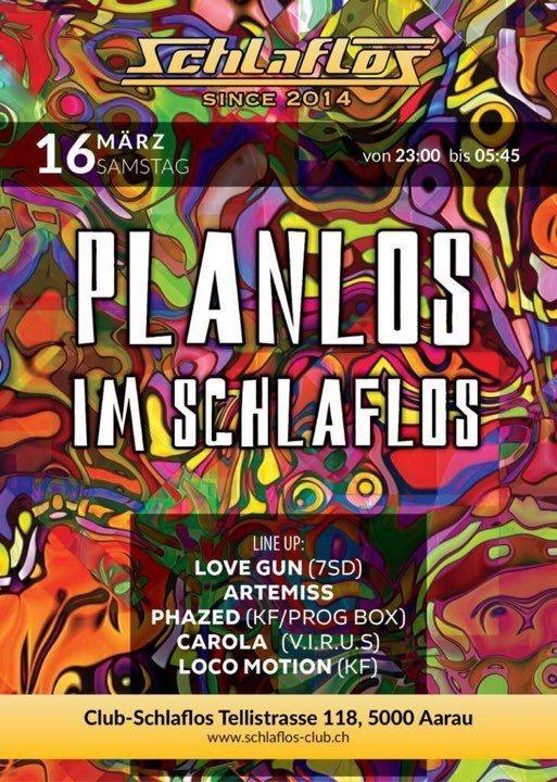 Party Flyer Planlos im Schlaflos 16 Mar '19, 23:00