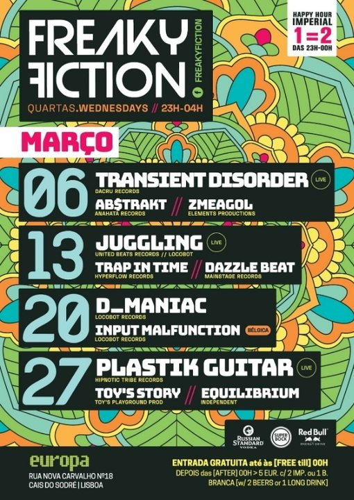 Party Flyer FREAKY FICTION 20 Mar '19, 23:00