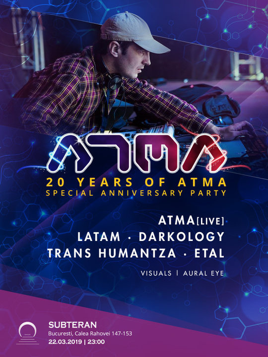 Party Flyer 20 years of Atma - Special Anniversary party 22 Mar '19, 23:00
