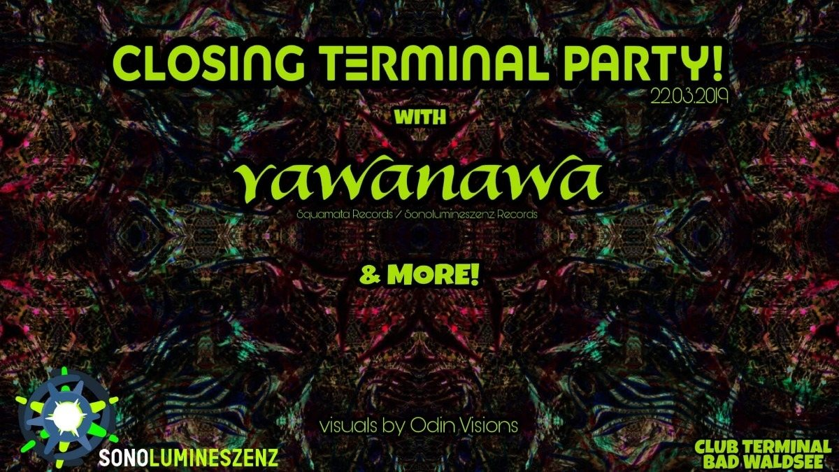 Party Flyer Closing Terminal Party! 22 Mar '19, 22:00
