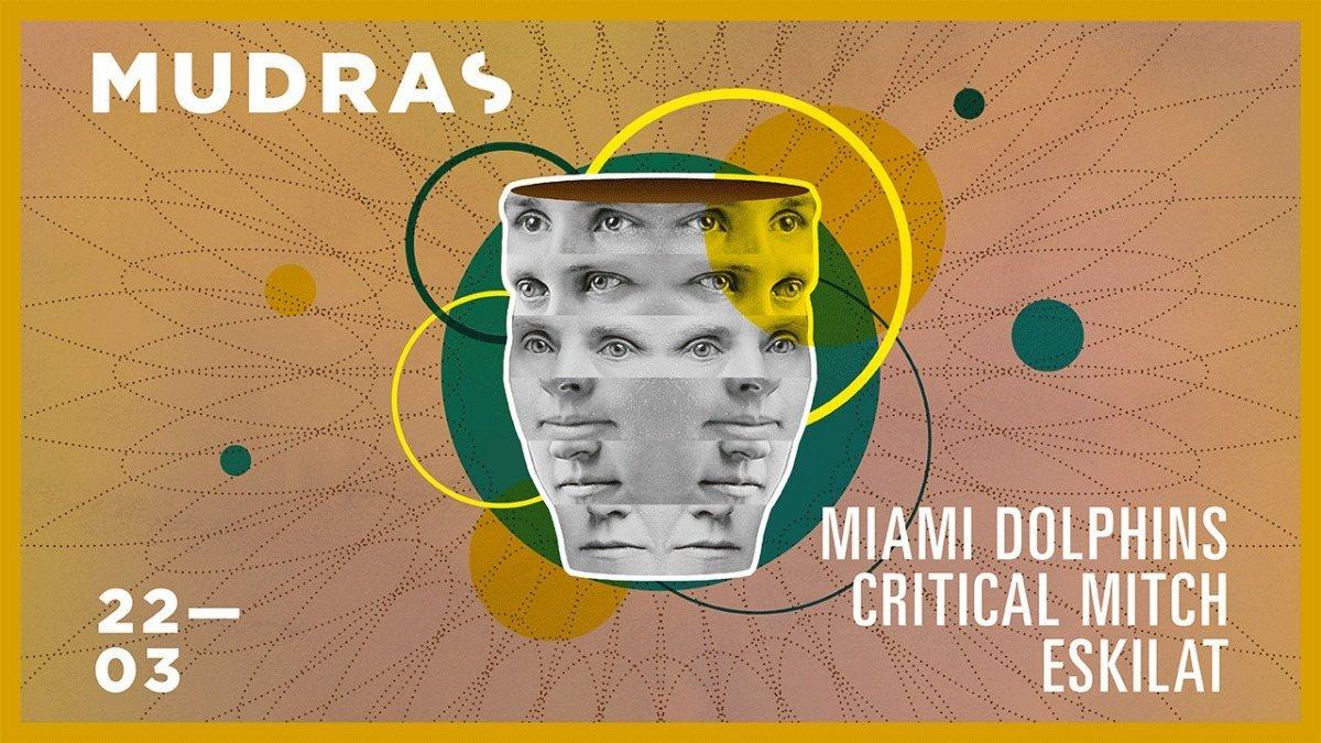Party Flyer Mudras w/ Miami Dolphins 22 Mar '19, 23:00