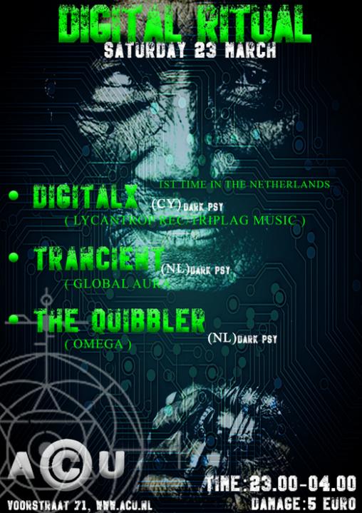 Party Flyer Digital Ritual 23 Mar '19, 23:00