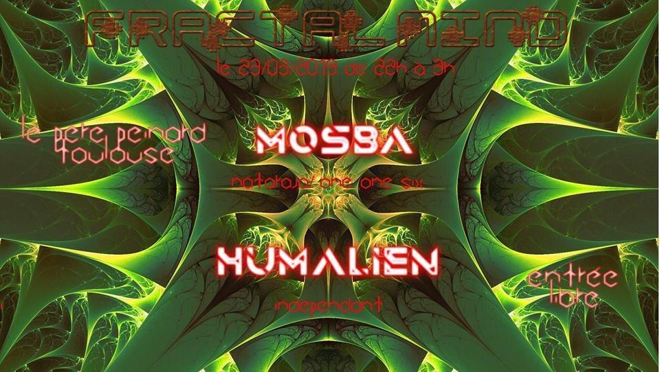 Party Flyer Fractal Mind (Psytrance): w/ Mosba, Humalien 23 Mar '19, 22:00