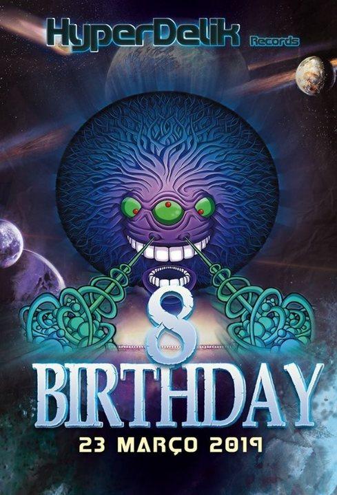 Party Flyer HyperDelik Records - 8 Birthday Presents 23 Mar '19, 14:00